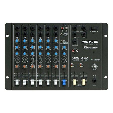 Ciclotron MXS 8 SA | Mesa de Som 8 Canais Estéreo