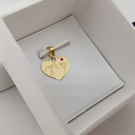 Pingente ou Berloque Coração 1,5cm