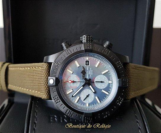 1dffc8d0639 Breitling Avenger II Seawolf Chronograph PVD Blue - Boutique do Relógio