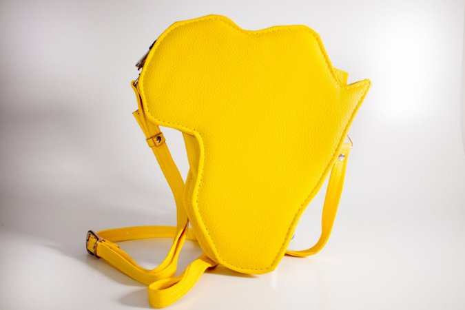 Bolsa tiracolo África amarela