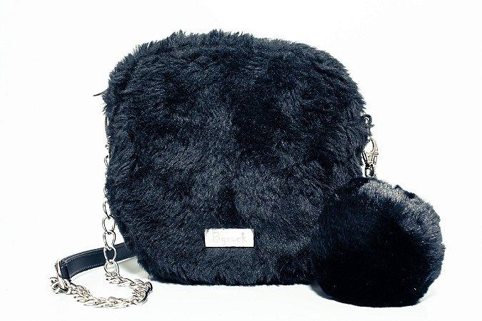 Bolsa tiracolo de pelúcia