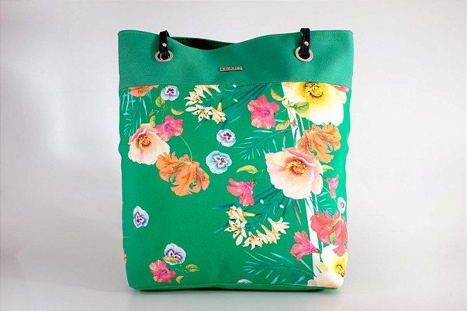 Bolsa Totem floral verde