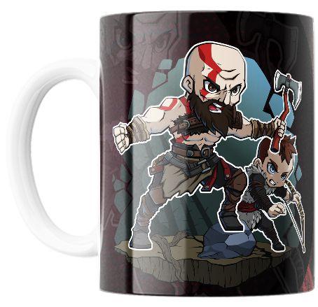 Caneca do Jogo GOD OF WAR 4 (Kratos e Atreus)