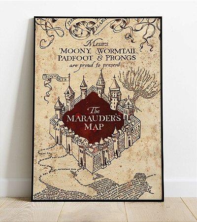 Placa Decorativa -  Mapa do Maroto - Harry Potter