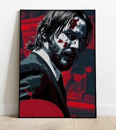 Quadro - John Wick Keanu Reeves