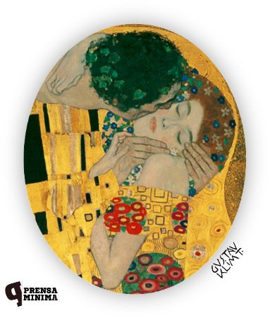 Almofadinha O Beijo, Klimt
