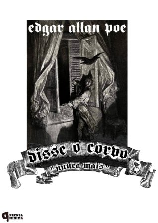 Camiseta Edgar Allan Poe -Nunca Mais!