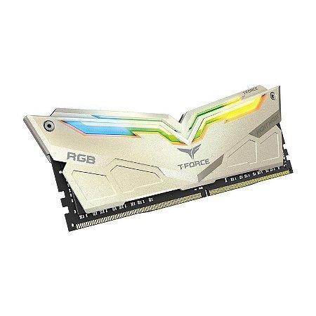 Memória RAM Team Group Night Hawk Legend RGB White DDR4 16GB 2x8GB 3200Mhz CL14