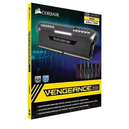 Memória RAM Corsair Vengeance LED RGB 16GB 2x8GB 3000Mhz