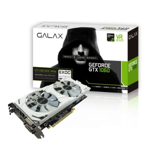 Placa De Vídeo Galax GTX 1060 EXOC White 3GB (OPEN BOX/USED)