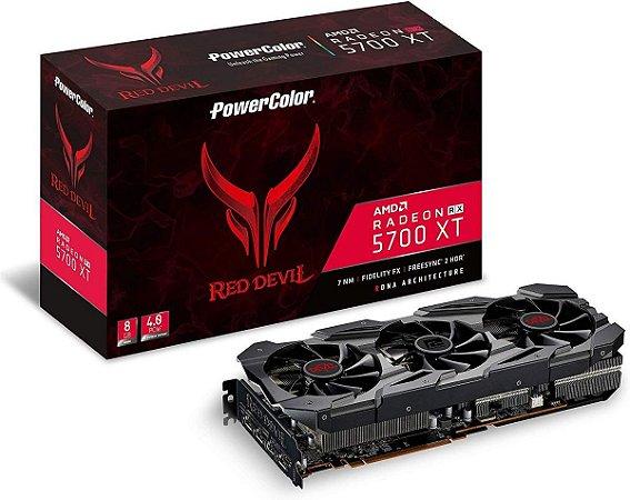 Placa De Vídeo AMD Power Color RX 5700 XT Red Devil 8GB