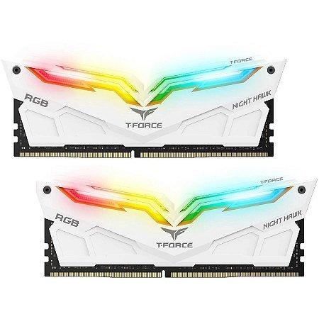Memória RAM Team Group Night Hawk RGB White DDR4 16GB 2x8GB 4000Mhz