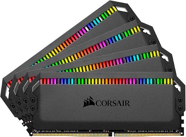 Memória RAM Corsair Dominator Platinum RGB DDR4 4x16GB 3200Mhz