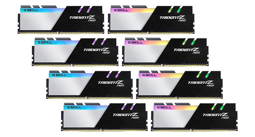 Memória RAM G.Skill Trident Z Neo RGB DDR4 256GB 8x32GB 3200Mhz