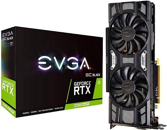 Placa De Vídeo EVGA RTX 2060 Super SC Black Gaming 8GB