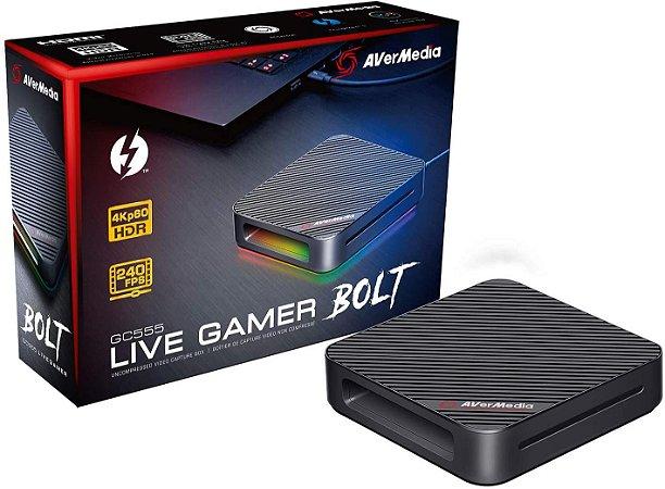 Placa De Captura AverMedia Live Gamer Bolt GC555 4K HDR 240HZ