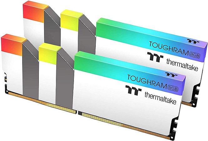 Memória RAM Thermaltake Toughram RGB White DDR4 2x8GB 4600Mhz
