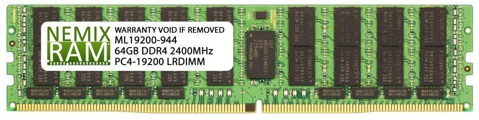 Memória RAM Nemix RAM DDR4 ECC LRDIMM 1x64GB 2400Mhz
