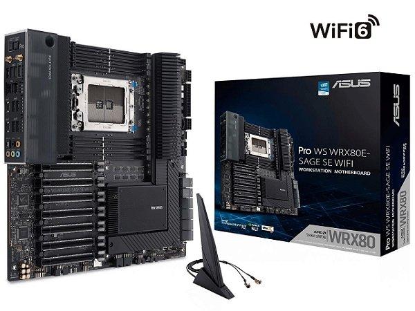 Placa Mãe Asus Pro WS WRX80E-SAGE SE WIFI sWRX8 AMD WRX80