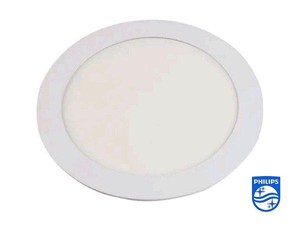 Painel Led Redondo Embutir 18w Branco Quente Philips
