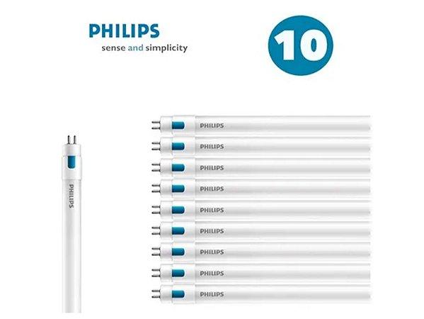 Kit 10 Lâmpadas Led Tubular 13w T5 120cm Philips + 10 Drives