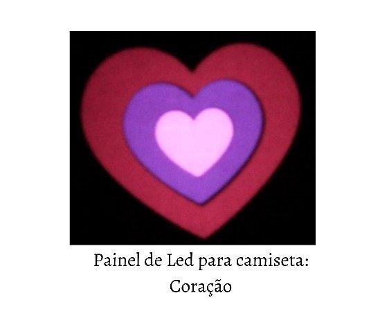 Painel de Led para camisetas: Coração