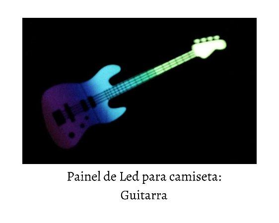 Painel de Led para camisetas: Guitarra