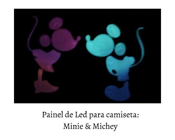 Painel de Led para camisetas: Minie & Mickey