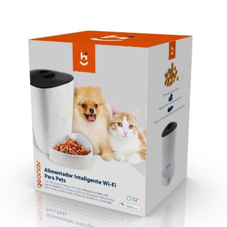 Alimentador Inteligente Wi-fi, 4L, para Cães E Gatos Geonav