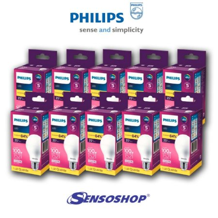 10 Lâmpadas Led Bulbo 13.5w Bivolt Philips Substitui 100w