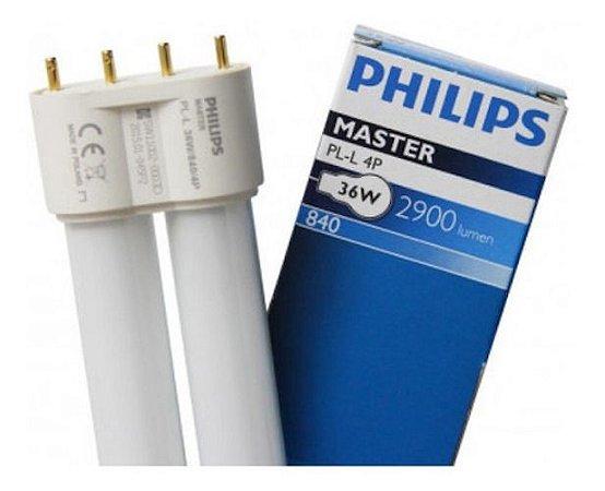 Lâmpada Pl L / Dulux L 36w/840 4 Pinos 2g11 Philips