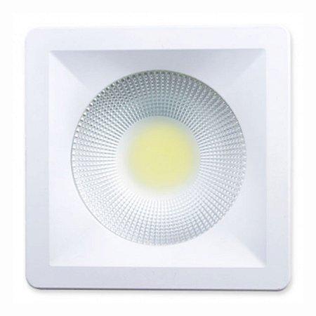 Luminária Cob Led Spot 20w Quadrada Branco Quente Startec