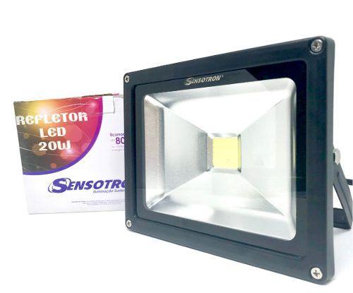 Refletor Holofote Led 20w - Bivolt Frio - Resistente à água