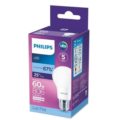 Kit 10 Led Bulbo 8w Original Philips - substitui Lâmpada 60w