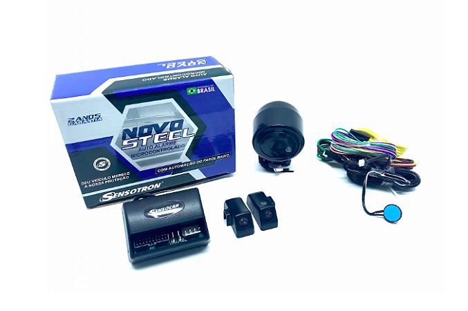 Alarme Sensocar direto da fábrica - 10 alarmes STEEL com 1 controle HD + 1 controle CANIVETE - GANHA 10 Alarmes MOTO Sensoblock