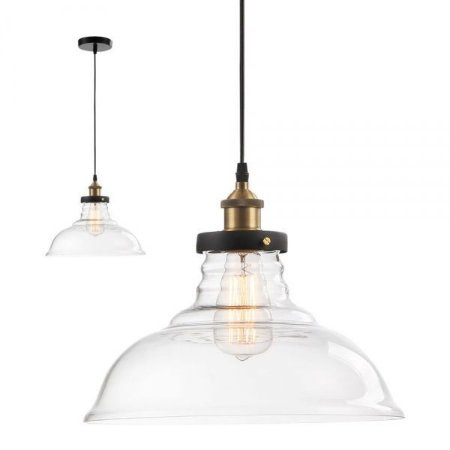 Pendente Industrial Vintage Vidro Mart Collection Transparente