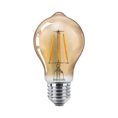 Lâmpada LED classic 40W A60 120V E27 GOLD D 1BC