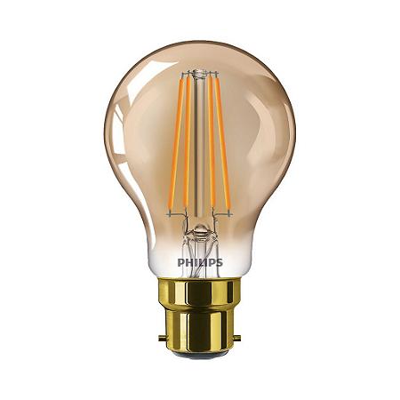 Lâmpada LED classic 50W A60 E27 FL GOLD D SRT4