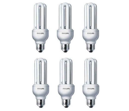 kit 6 Lâmpadas ECO HOME STICK  18W E27 220V  Branco Frio  PHILIPS