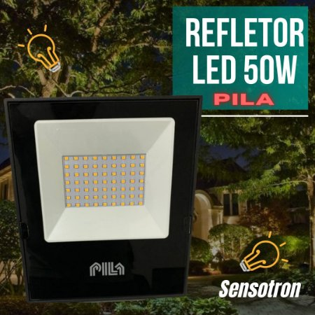 Refletor Led 50w IP65, 3000K Bivolt Philips PILA