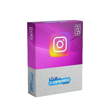 Aplicativo Loja Virtual Fotos do Instagram no Rodapé