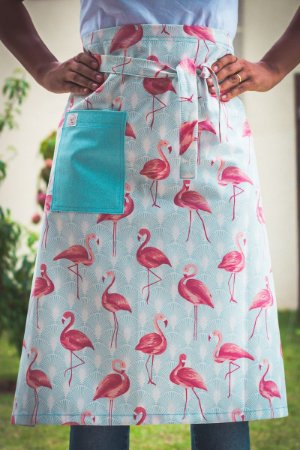 Avental de Cintura Flamingos