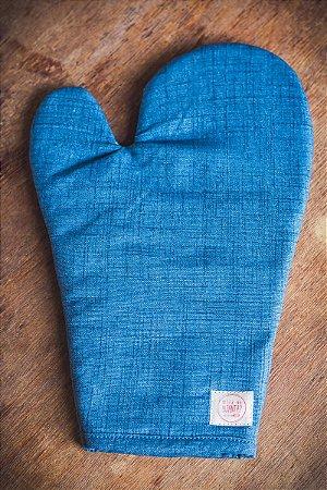Luva de Forno Azul Jeans Inteira