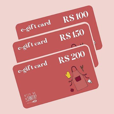 E-Gift Card O Que Vai Ter Na Janta