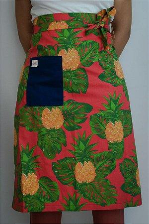 Avental de Cintura Abacaxi fundo Rosa