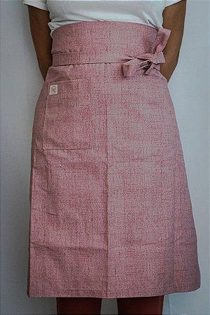 Avental de Cintura Jeans Rosa