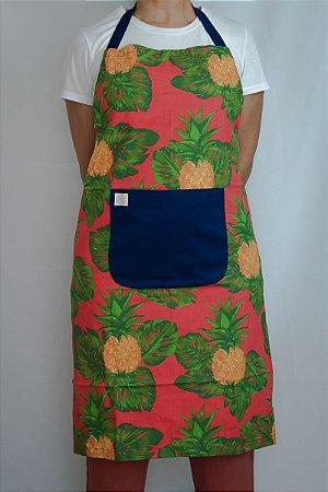 Avental de Corpo Abacaxi fundo Rosa