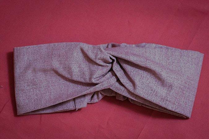 Faixa de Cabelo Jeans Rosa