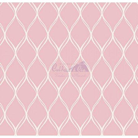 Tecido Tricoline Papel de Parede (Rosa), 100% Algodão, Unid. 50cm x 1,50mt