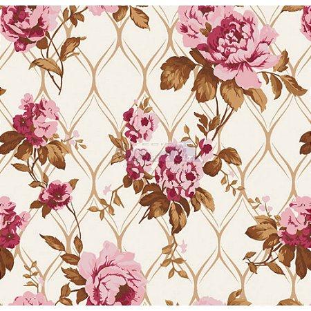 Tricoline Rosa Imperial (Rosé), 100% Algodão, Unid. 50cm x 1,50mt
